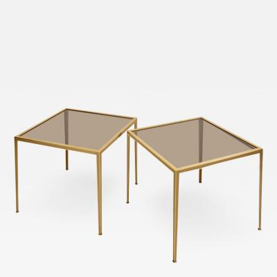 M nchner Werkst tten Set of Two Brass and Glass Nesting Tables by M nchner Werkst tten