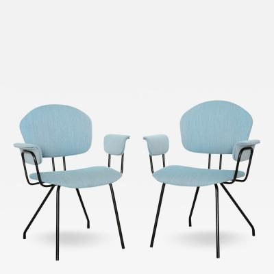 MIM Pair of Architectural Armchairs by MIM