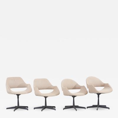 Madison Furniture Set of 4 Swivel Armchairs by Arthur Umanoff for Madison Furniture USA 1960s