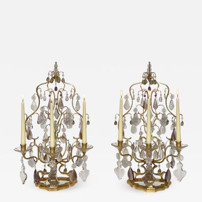 Maison Bagu s A pair of large girandoles by Maison Bagu s