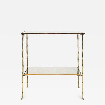 Maison Bagu s Bronze bamboo coffee table by Maison Bagues Ca 1960