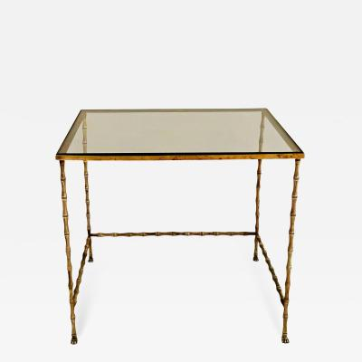 Maison Bagu s Elegant brass table by Maison Bagu s France 1960s