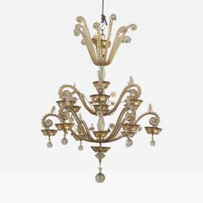 Maison Bagu s French 1940s Brass Frame Chandelier