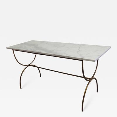 Maison Bagu s French Modern Neoclassical Gilt Iron Faux Bamboo Sofa Table Console Bagu s