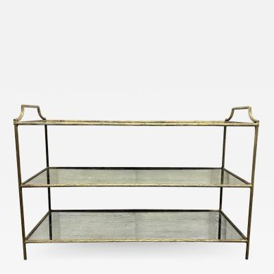 Maison Bagu s French Three Tier Bar Cart style of Maison Bagues