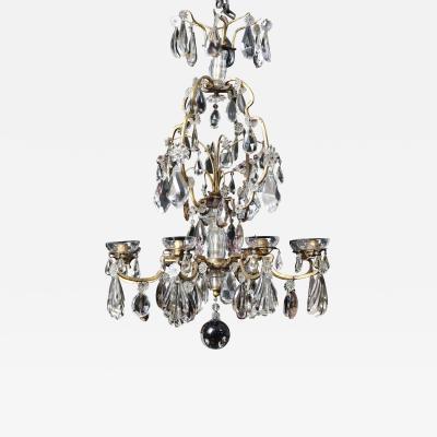 Maison Bagu s Large French Antique Crystal Chandelier