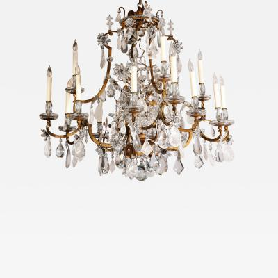 Maison Bagu s Large Scale Rock Crystal Chandelier by Maison Bagues