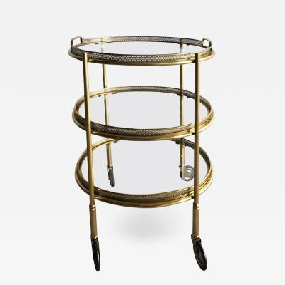 Maison Bagu s Maison Bagu s Oval Three Tier Bar Cart
