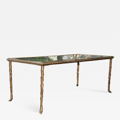 Maison Bagu s Maison Bagu s Rare Bronze Table 1950