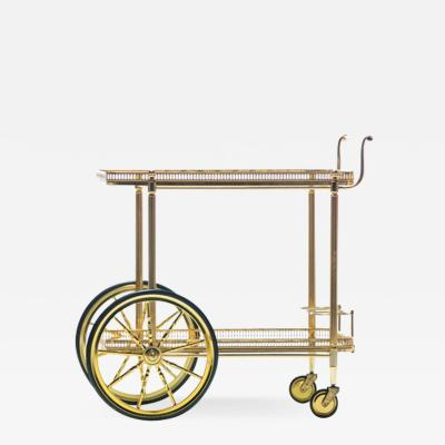 Maison Bagu s Maison Bagu s Style Neoclassical Brass Bar Cart circa 1970
