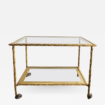 Maison Bagu s Maison Bagu s Two Tier Bronze Bar Cart