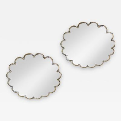 Maison Bagu s Maison Bagues documented refined pair of crystal framed mirrors