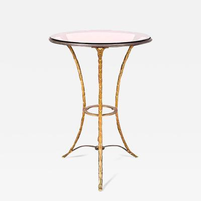 Maison Bagu s Maison Bagues gold bronze side table with a beautiful chiselling work