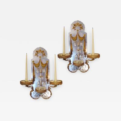 Maison Bagu s Pair of 1940s Maison Bagu s wall lights