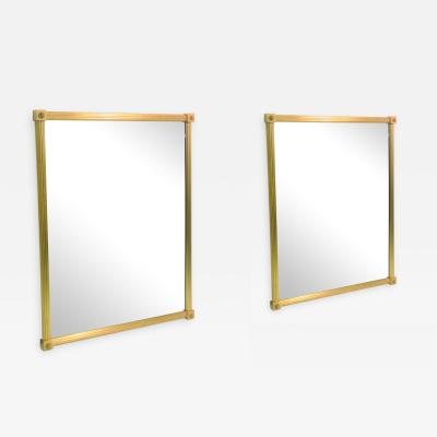 Maison Bagu s Pair of French Gilt Bronze Maison Bagues Mirrors