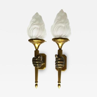 Maison Bagu s Pair of Opposite Maison Bagu s Hand Sconces 2 pairs Available