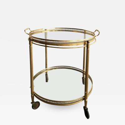 Maison Bagu s Round Bar Cart made by Maison Bagu s 2 Tiers