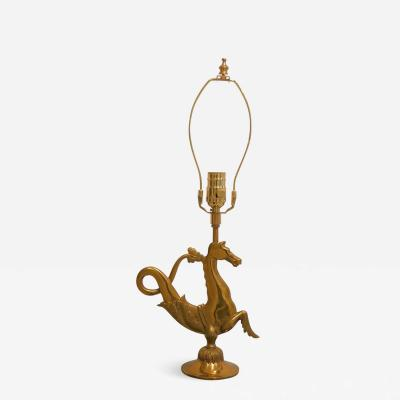 Maison Bagu s Solid bronze marine horse shaped table lamp by Maison Bagu s France 1960s