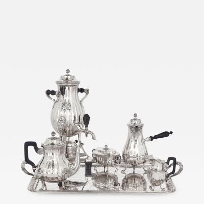 Maison Cardeilhac Antique Silver Rococo Style Six Piece Tea and Coffee Set by Maison Cardeilhac