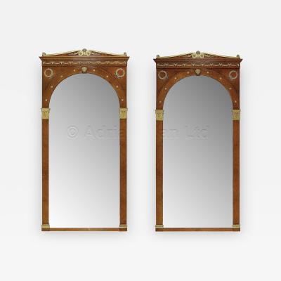Maison Krieger Impressive Pair of Empire Style Mirrors