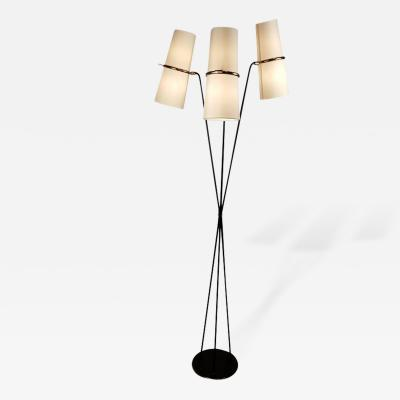 Maison Lunel Elegant French Modernist Three Arm Floor Lamp By Maison Lunel