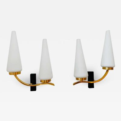 Maison Lunel Pair of French 1950s Lunel Wall Lights