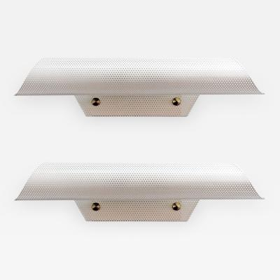 Maison Lunel Pair of French Perforated Wall Lights by Lunel