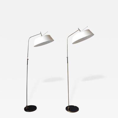 Maison Lunel Two Fine 1950s French Floor Lamps by Lunel