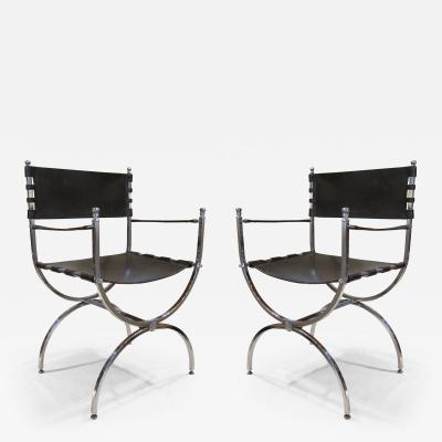 Maison Ramsey A Pair of Chairs by Maison Ramsey Italy 1950