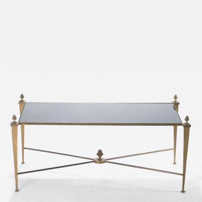 Maison Ramsey French Maison Ramsay gold gilt and opaline coffee table 1960s