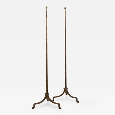 Maison Ramsey Maison Ramsay Golden Iron Pair of Floor Lamps