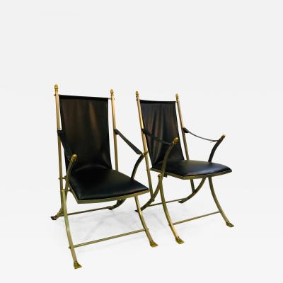 Maison Ramsey Pair of Directoire Folding Chairs by Maison Ramsay