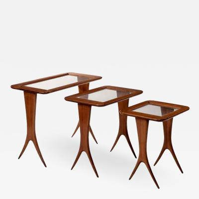 Maison Raphael Mid Century Modern nest of tables by Raphael