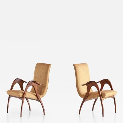 Malatesta Mason Pair of Sculptural Armchairs by Malatesta and Mason Early 1950s