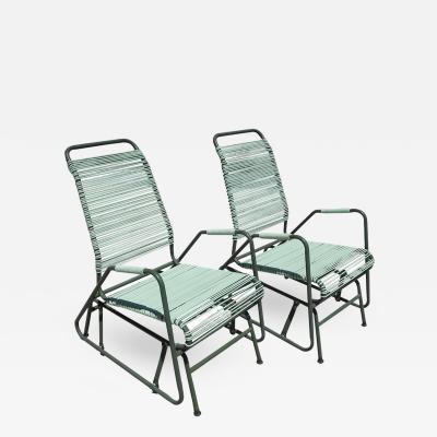 Mallin Co Mid Century Patio Glider Chairs by Mallin Co of California