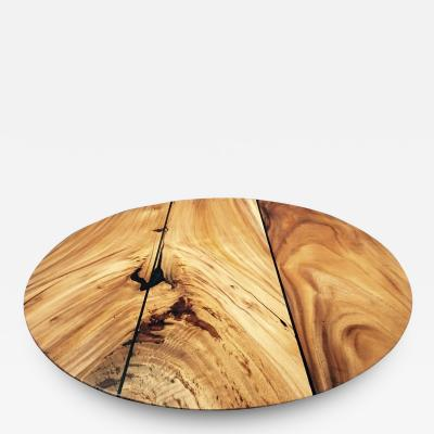 Mandara Furniture ROUND TALL PLANK TOP TABLE