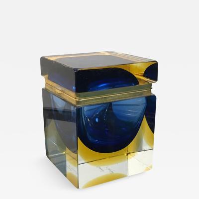 Mandruzzato Mandruzatto Designed Murano Glass Box