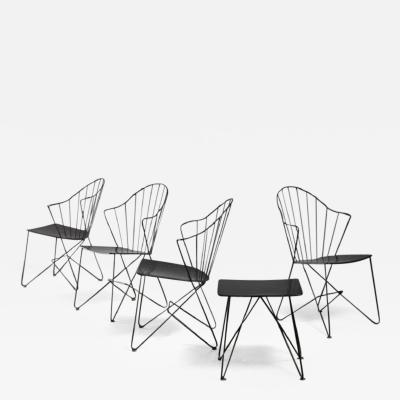 Mannhardt Stahlm bel Mannhardt Stahlm bel set of four chairs and a table Germany 1950s