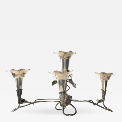 Mappin Webb Antique Epergne Sterling Vase Candelabra 5 Candle Holder by MAPPIN and WEBB
