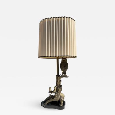 Marbro Lamp Company Bronze Owl Lamp
