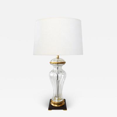 Marbro Lamp Company Marbro Lamp Co 1960s Cut Crystal Baluster form Lamp with Gilt metal Mounts