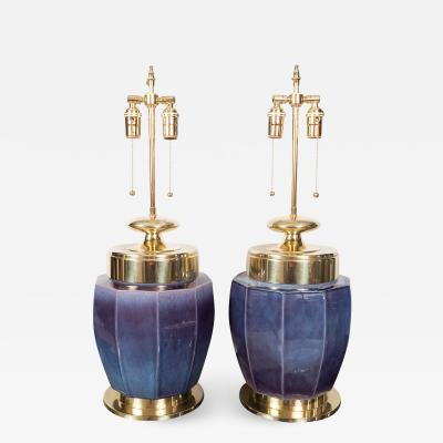 Marbro Lamp Company PAIR OF URN SHAPED CERAMIC LAMPS by Marbro