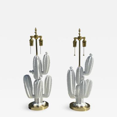 Marbro Lamp Company Pair of Cactus Lamps