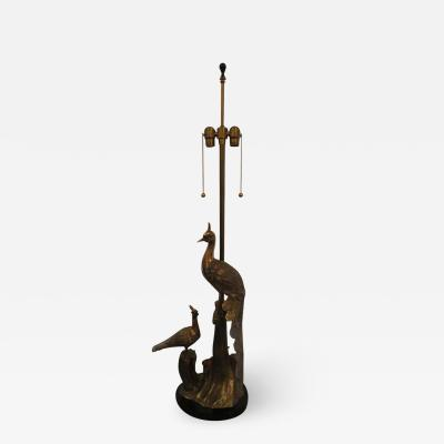 Marbro Lamp Company Stunning Marbro Brass Peacock Form Table Lamp Mid Century Modern