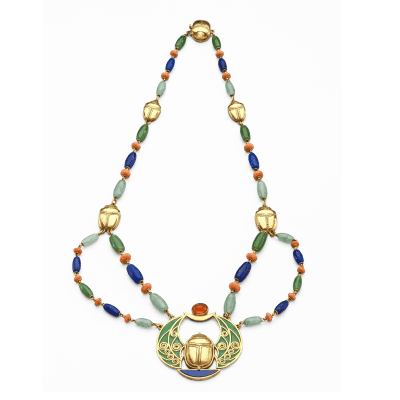 Marcus Co Marcus Egyptian Revival Necklace c 1880