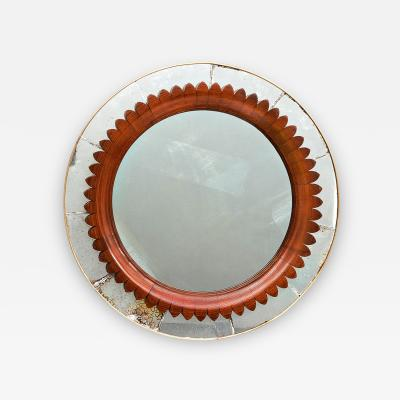 Marelli Cant 1930s Round Mirror by Marelli