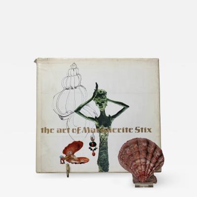 Marguerite Stix The Art of Marguerite Stix Book and 14K Gold Scallop Shell Box 1955
