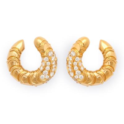 Marina B 18K Gold Diamond Earrings by Marina B