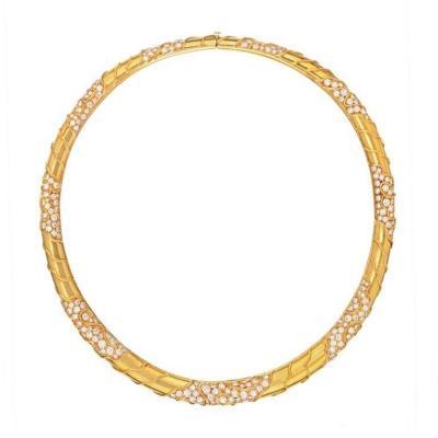 Marina B MARINA B 18K YELLOW GOLD DIAMOND COLLAR NECKLACE