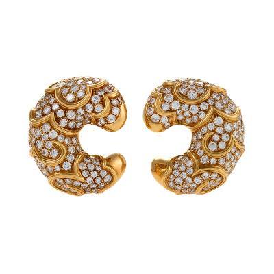 Marina B Marina B Diamond and Gold Onda Earrings